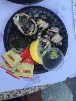 half shell raw redondo seafood
