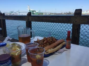 san pedro shrimp tray LA Harbor