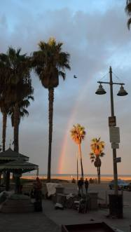 rainbow above Venice Beach
